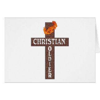 1 THESSALONIANS 5:8 CHRISTIAN SOLDIER GREETING CARD