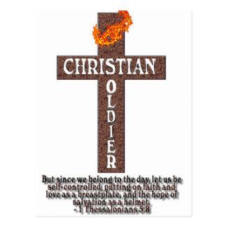 1 THESSALONIANS 5:8 CHRISTIAN SOLDIER POSTCARD