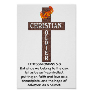 1 THESSALONIANS 5:8 POSTER - CHRISTIAN SOLDIER