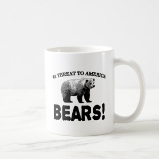 #1 Threat to America: Bears Coffee Mug