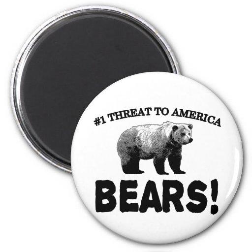 #1 Threat to America: Bears Fridge Magnets