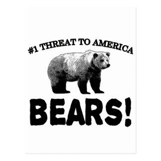 #1 Threat to America: Bears Postcard