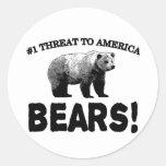#1 Threat to America: Bears Sticker