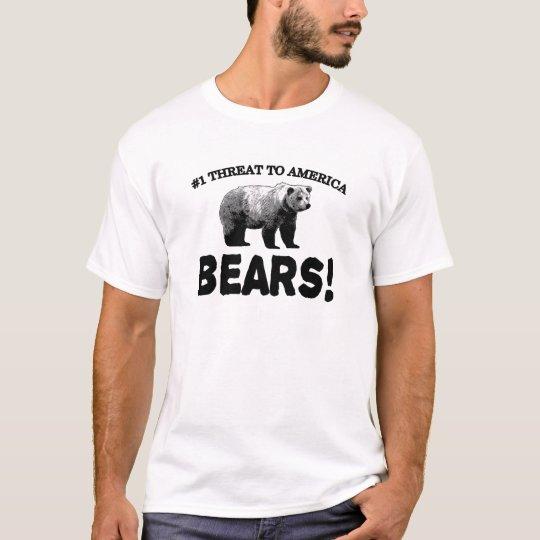 #1 Threat to America: Bears T-Shirt