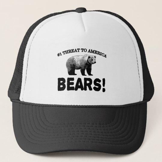 #1 Threat to America: Bears Trucker Hat