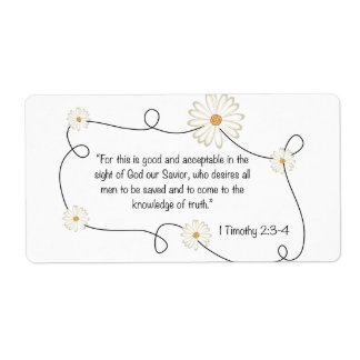 1 Timothy 2:3-4 Knowledge of Truth Christian art Label