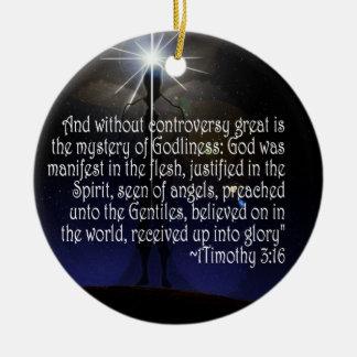 1 TIMOTHY 3:16 SCRIPTURE ORNAMENT JESUS