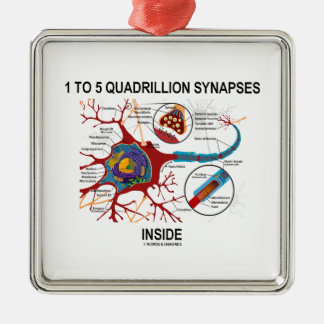 1 To 5 Quadrillion Synapses Inside Neuron Synapse Christmas Tree Ornament