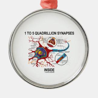 1 To 5 Quadrillion Synapses Inside Neuron Synapse Christmas Tree Ornaments