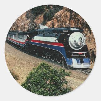 1 tren americano de la libertad (SP) 4449, el cabo Pegatina Redonda