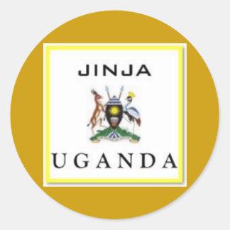 #1 Uganda Customized Products Classic Round Sticker