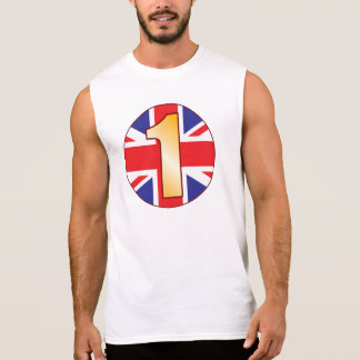 1 UK Gold Sleeveless Shirt