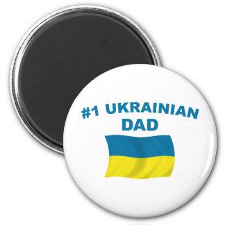 #1 Ukrainian Dad 2 Inch Round Magnet