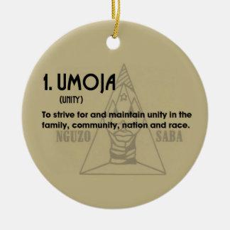 1. UMOJA Kwanzaa Holiday Ornament
