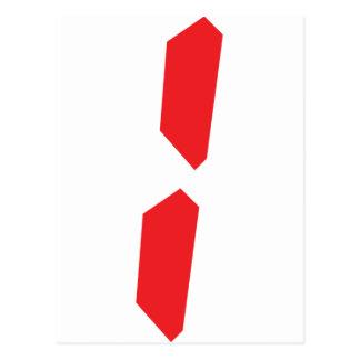 1 un despertador rojo digital tarjeta postal