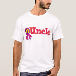 Men's Basic T-Shirt with #1 Uncle Award design
