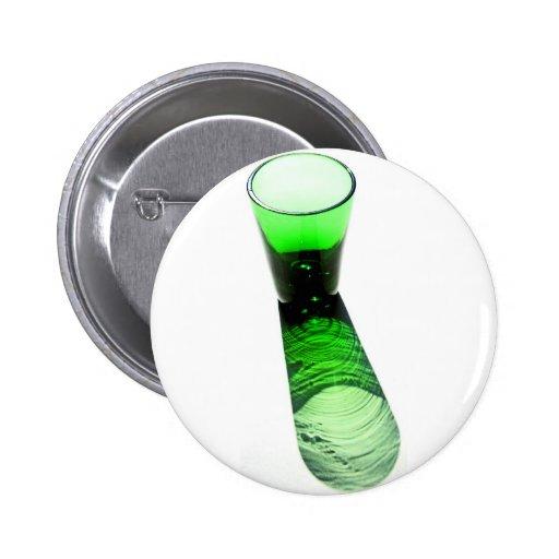 1 vaso de medida verde del cóctel pin redondo 5 cm