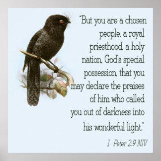 1 verso cristiano de la biblia del poster de la es