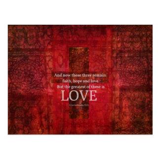 1 VERSO de la BIBLIA del 13:13 de los Corinthians Postal
