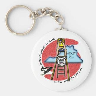#1 Virginia Survived Hurricane Irene Basic Round Button Keychain