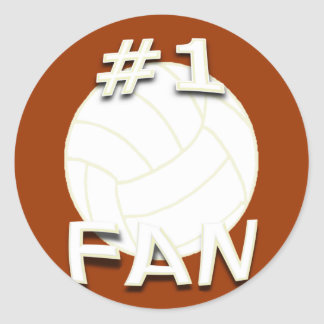 #1 Volleyball Fan Stickers