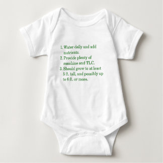 1. Water daily and add    nutrients.2. Provide ... Baby Bodysuit