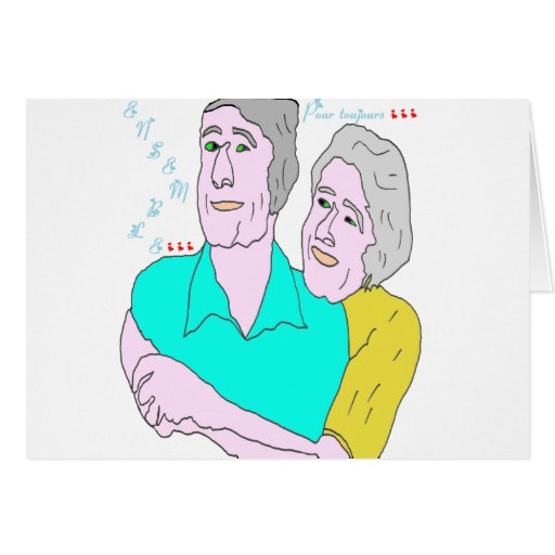 1 WHOLE FOR TOUJOURS.png COUPLES Greeting Cards
