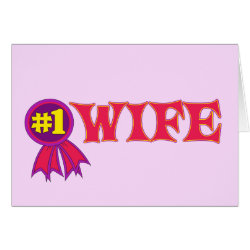 Greeting Card with #1 Wife Award design