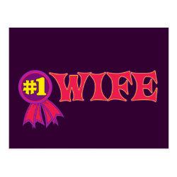 Postcard with #1 Wife Award design