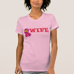Women's American Apparel Fine Jersey Short Sleeve T-Shirt with #1 Wife Award design