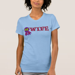 Women's American Apparel Fine Jersey Short Sleeve T-Shirt with #1 Wife Award design
