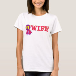 Women's Basic T-Shirt with #1 Wife Award design