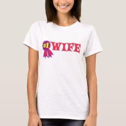 Women's Basic T-Shirt with #1 Wife Award design