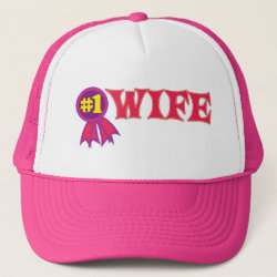 Trucker Hat with #1 Wife Award design