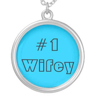 #1 Wifey Blue Necklace