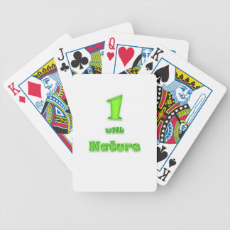 1 with Nature! Neon Green Bicycle Playing Cards