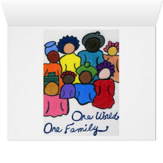 1 World, 1 Family, 1 Heart Valentine's Day Card