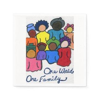 1 World 1 Family Napkins