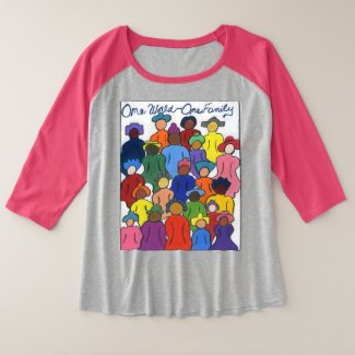 1 World, 1 Family Women Baseball Tshirt
