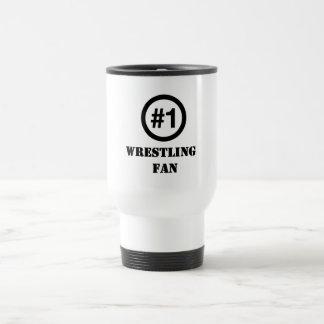# 1 Wrestling Fan 15 Oz Stainless Steel Travel Mug