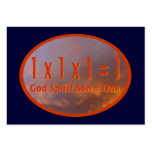 1 x 1 x 1 = 1 / God Spirit Son = One Tract Cards / Business Cards