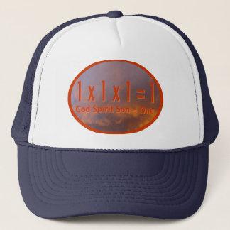 1 x 1 x 1 = 1 / God Spirit Son = One Trucker Hat