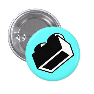 1 x 2 Brick by Customize My Minifig Pinback Button