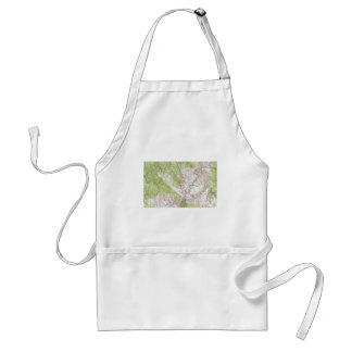 1 x 2 Degree Topographic Map Adult Apron