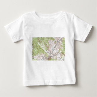 1 x 2 Degree Topographic Map Baby T-Shirt