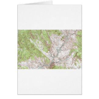 1 x 2 Degree Topographic Map Greeting Card