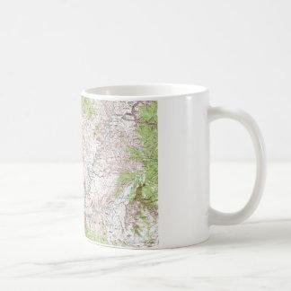 1 x 2 Degree Topographic Map Coffee Mug