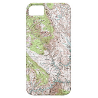 1 x 2 Degree Topographic Map iPhone SE/5/5s Case