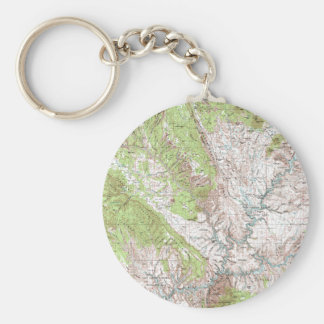 1 x 2 Degree Topographic Map Keychain