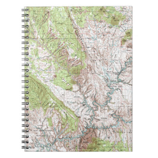 1 x 2 Degree Topographic Map Spiral Notebook